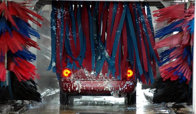 Myjnia samoobsługowa po drodze do pracy